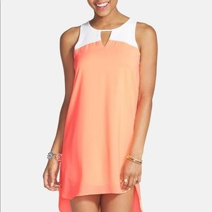 Everly Colorblock High/Low Shift Dress